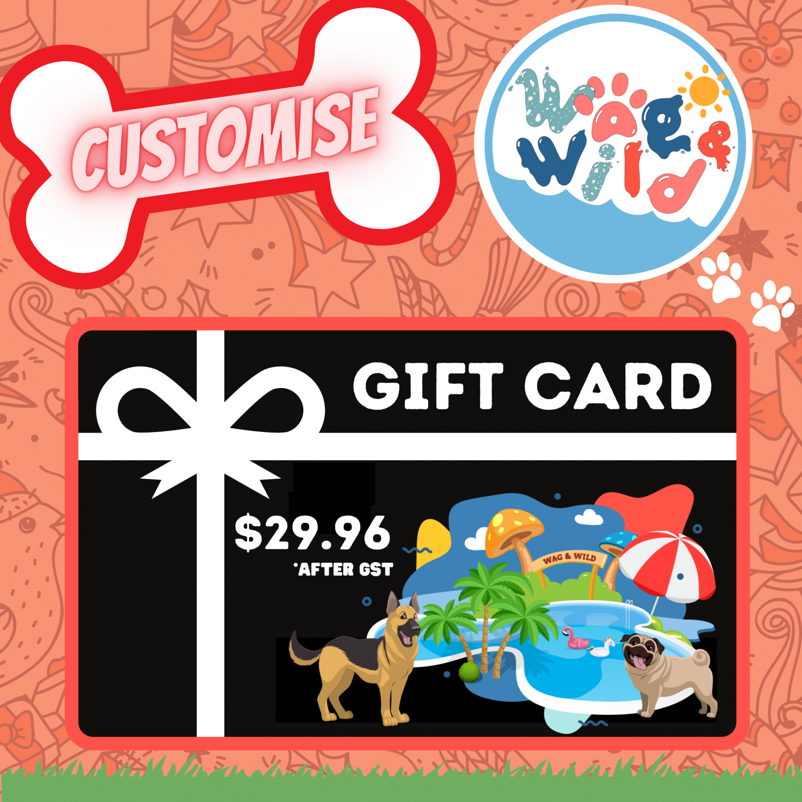 Customised E-Gift Card ($29.96 after GST)